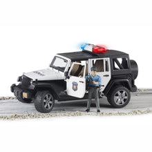 Load image into Gallery viewer, BRUDER Jeep Wrangler Police vehicle with policeman and accessories