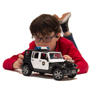 BRUDER Jeep Wrangler Police vehicle with policeman and accessories