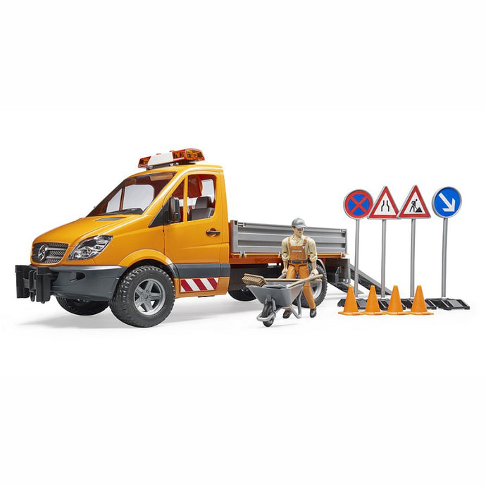 BRUDER MB Sprinter Municipal with Light & Sound Module 1:16