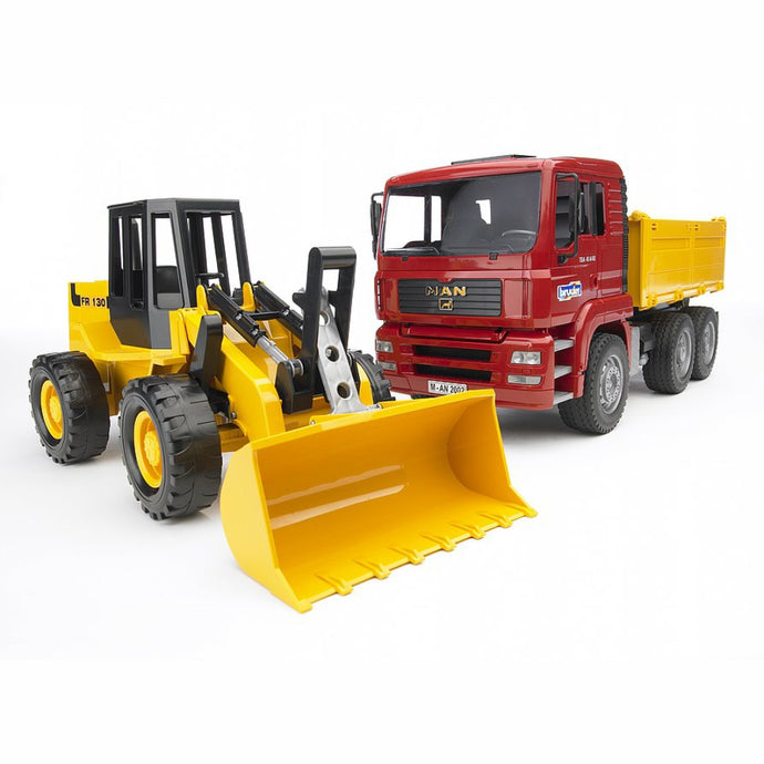 BRUDER MAN TGA Construction Truck w/Articulated Road Loader 1:16