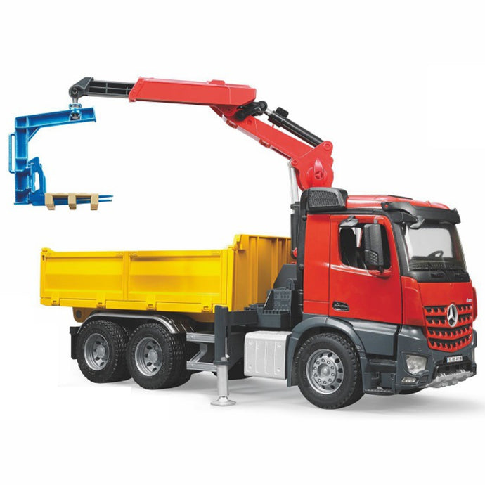 BRUDER MB Arocs Construction Truck with Crane & Accessories 1:16