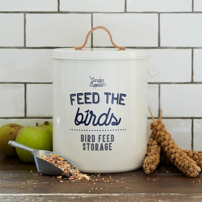 BURGON & BALL  Bird Food Tin with Lid - Stone