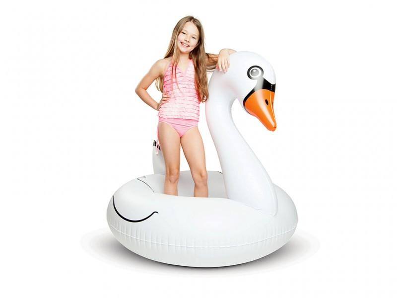 Girl with BIG MOUTH -EDC | Giant Pool Float - Swan