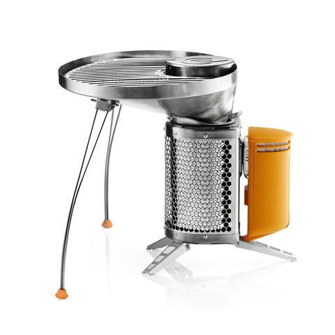 BIOLITE CampStove with portable grill side view