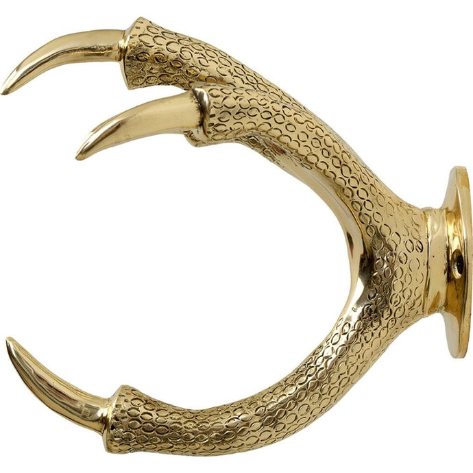 GARDEN GLORY Claw Wall Mount Hose Holder - Gold - Brass