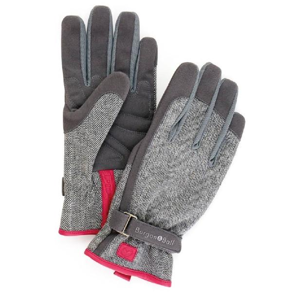 BURGON & BALL  |  Love the Glove - Grey Tweed M/L