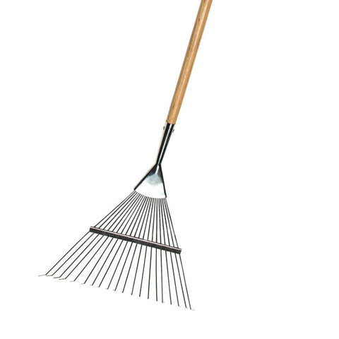BURGON & BALL  |  Flexi-Tined Lawn Rake - close-up