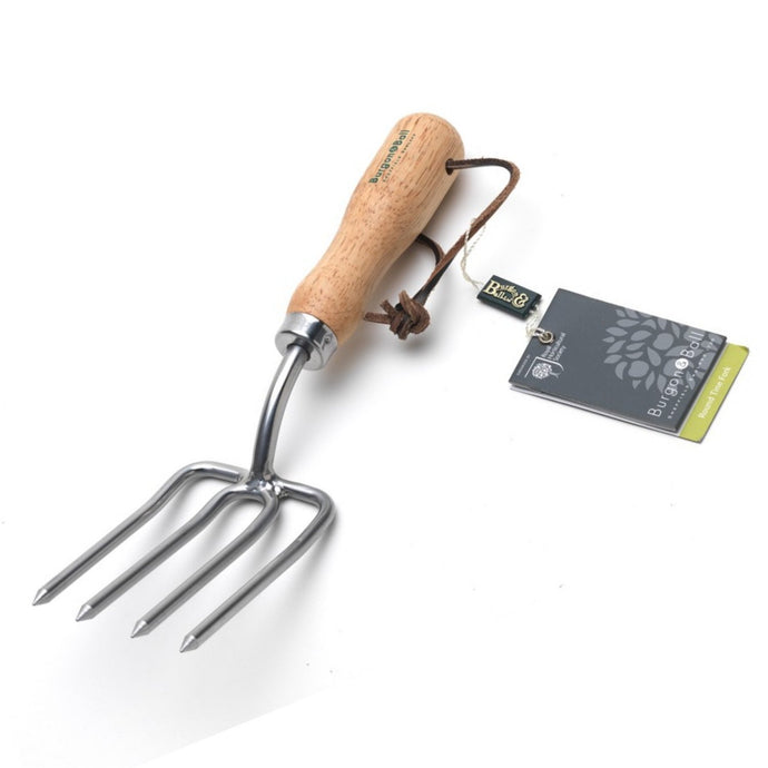 BURGON & BALL  |  Round Tine Hand Fork - Stainless. RHS Endorsed