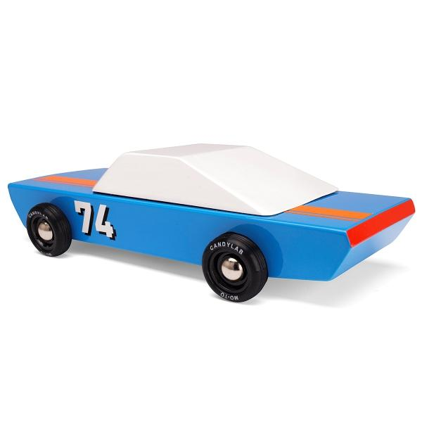 CANDYLAB | Blu74 Racer Wooden Toy Racing Car