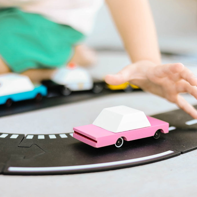 CANDYLAB | Candycar Pink Sedan C376 Wooden Toy Car