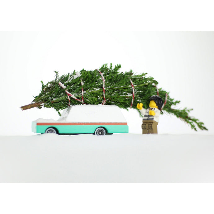 CANDYLAB | Candycar Teal Wagon W812 Wooden Toy Car
