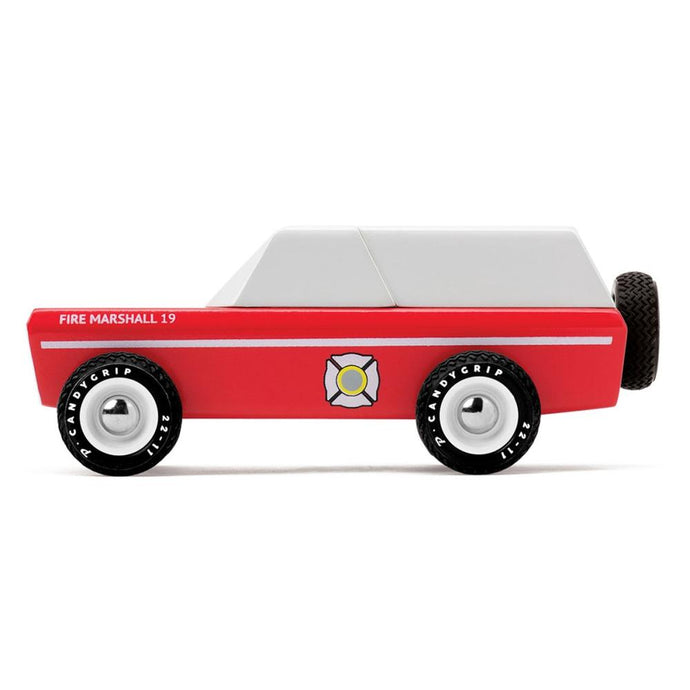 Candylab Fire Marshall toy car side view