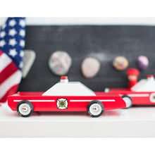 Load image into Gallery viewer, CANDYLAB | Fire Chief Wooden Toy Car
