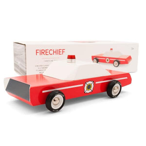 CANDYLAB | Fire Chief Wooden Toy Car