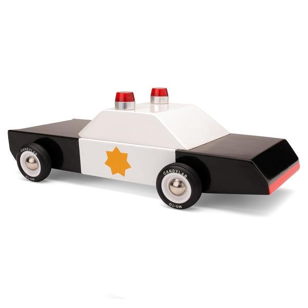 CANDYLAB | Police Cruiser Wooden Toy Car