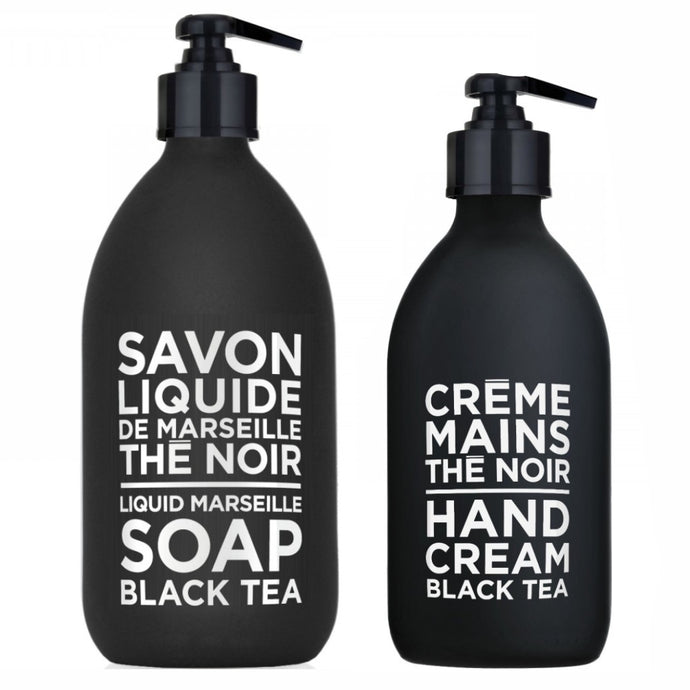 COMPAGNIE DE PROVENCE | Liquid Soap 500ml & Hand Cream 300ml Duo - Black Tea