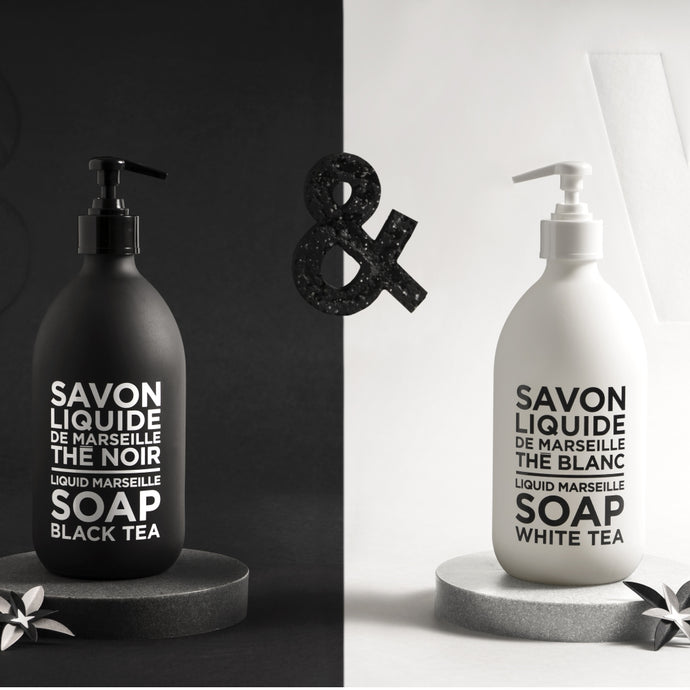 COMPAGNIE DE PROVENCE | Liquid Soap 500ml - Black & White Tea Duo