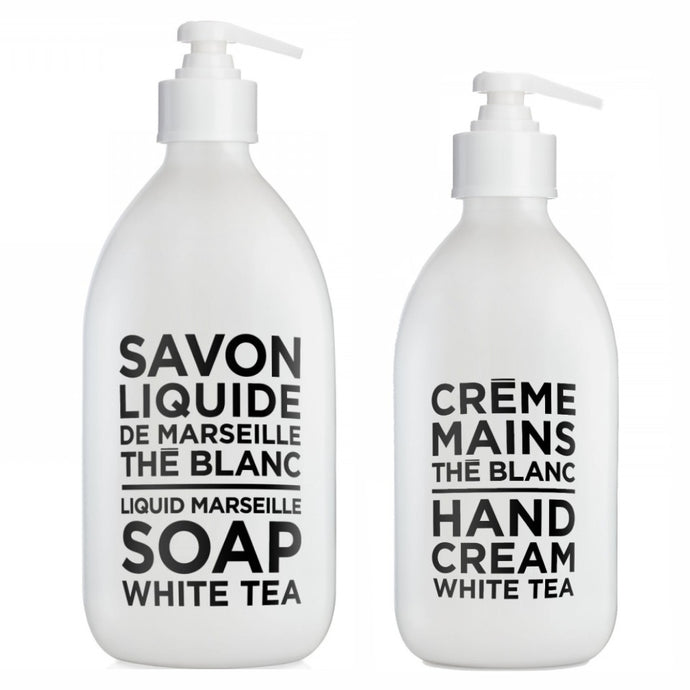 COMPAGNIE DE PROVENCE | Liquid Soap 500ml & Hand Cream 300ml Duo - White Tea