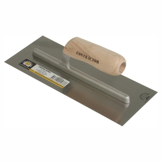 CONTRACTOR | Timber Handle Square Plaster Finishing Trowel - 280mm