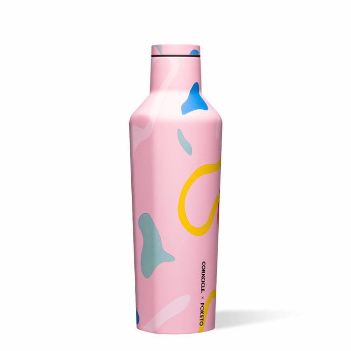 CORKCICLE x POKETO Stainless Steel Insulated Canteen 16oz (470ml) - Pink Party