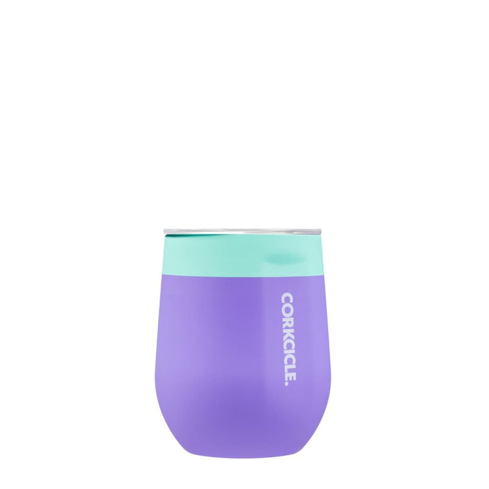 CORKCICLE | Stainless Steel Insulated Stemless Cup 12oz - Colour Block Mint Berry