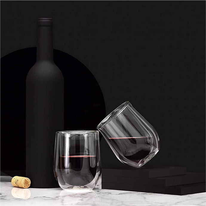 CORKCICLE | Stemless 12oz Glass Set (2) - Clear