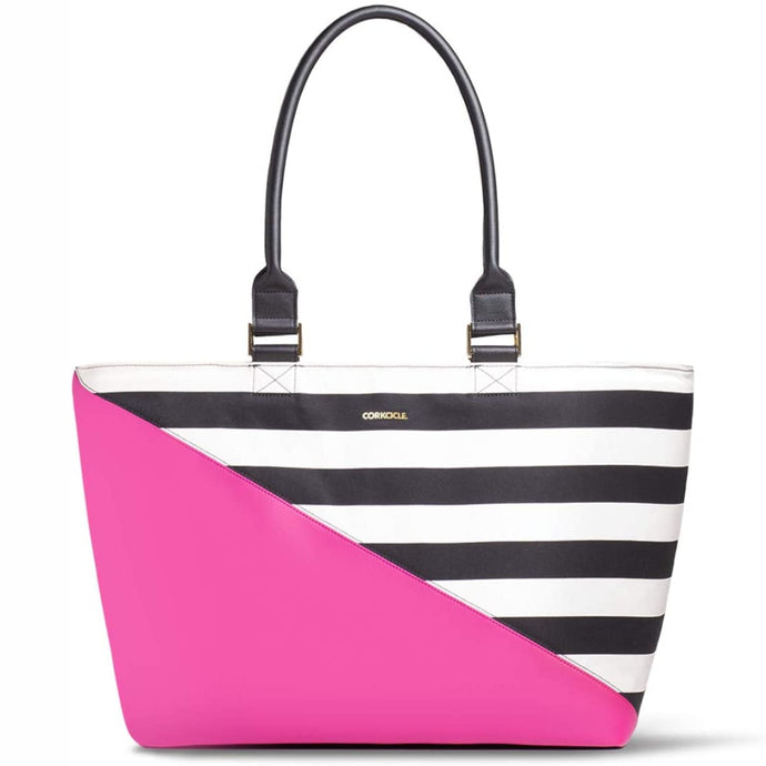 CORKCICLE | Virginia Insulated Tote Bag - Pink Stripe