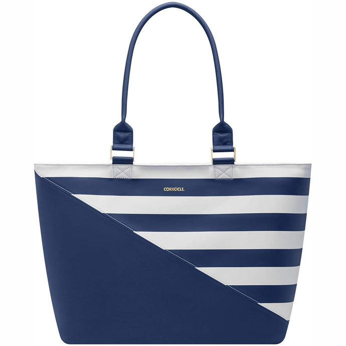 CORKCICLE | Virginia Insulated Tote Cooler Bag - Navy Stripe