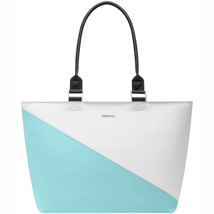 CORKCICLE | Virginia Insulated Tote Cooler Bag - Turquoise Wedge