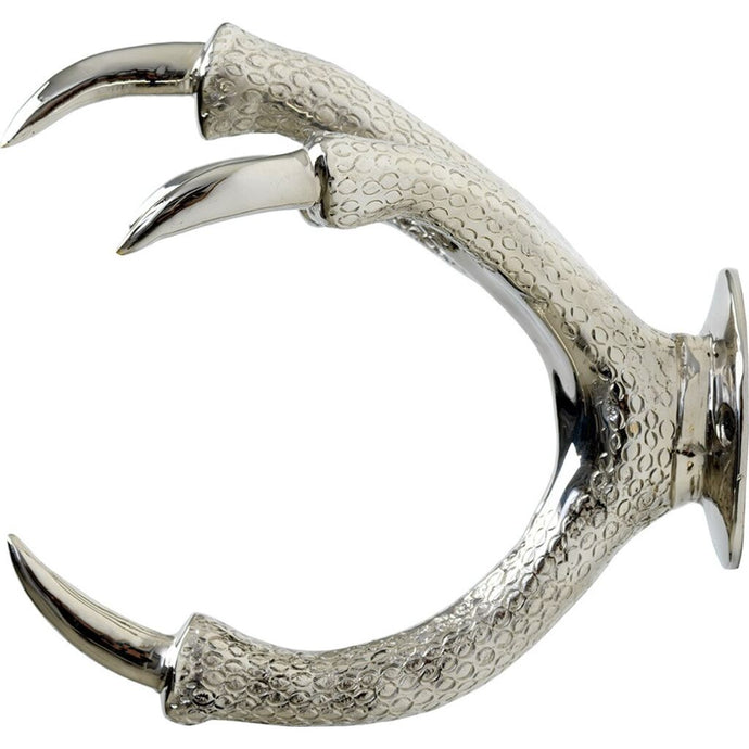 GARDEN GLORY Claw Wall Mount Hose Holder - Silver - Chrome