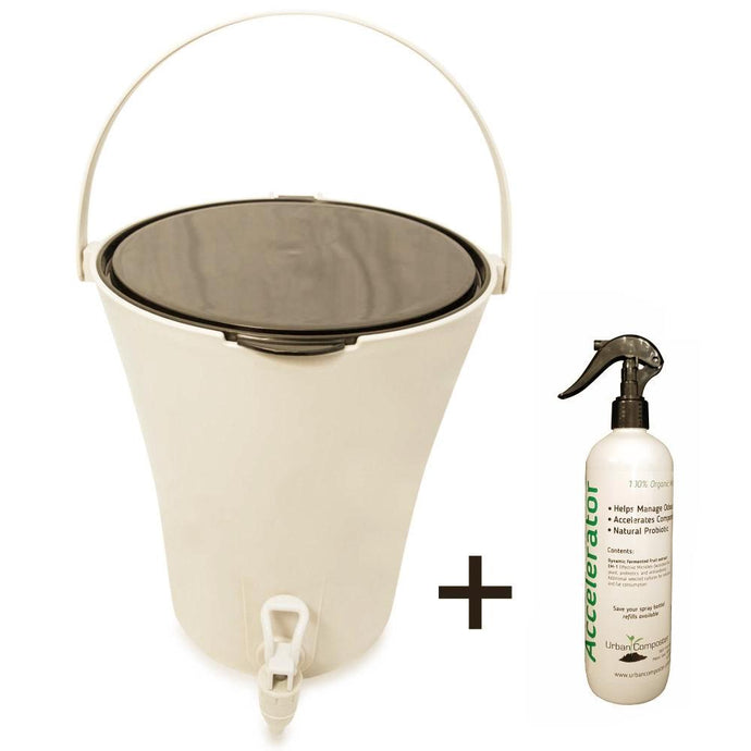 URBAN COMPOSTER™ |   'CITY' Beginner's Kit 7L - Black