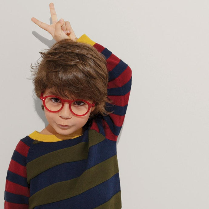 IZIPIZI PARIS | SCREEN Glasses Junior Kids STYLE #D - Red (3-10 YEARS)