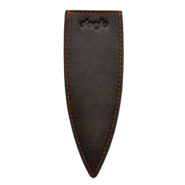 DEEJO KNIFE | Leather Sheath for 37g - Mocca Black