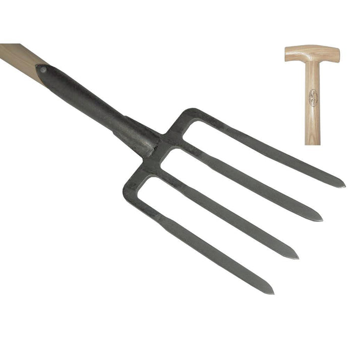 DEWIT | Garden fork 4 prong - 900mm Ash T-Handle
