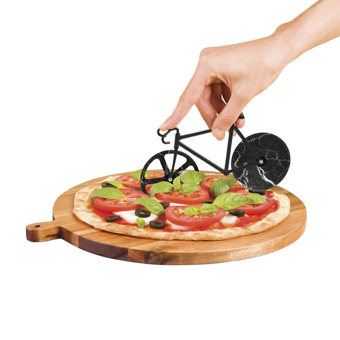 DOIY | The Fixie Pizza Cutter - Black Marble