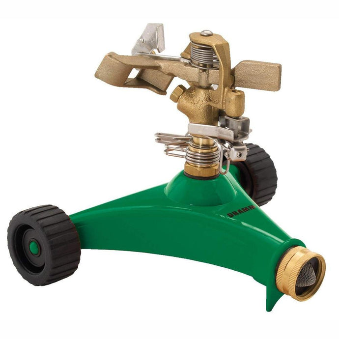 DRAMM | ColourStorm Wheeled Impulse Garden Sprinkler - Green