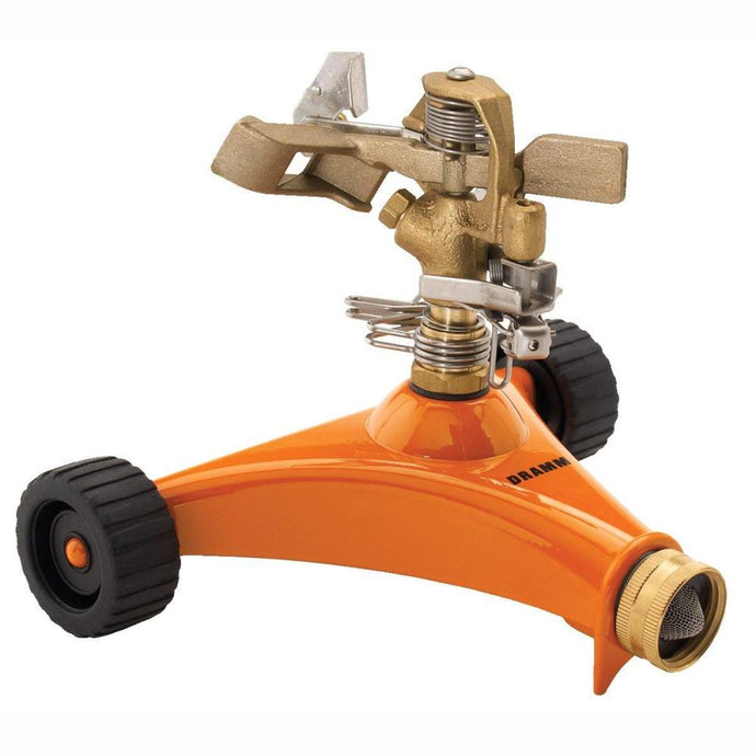 DRAMM | ColourStorm Wheeled Impulse Garden Sprinkler - Orange