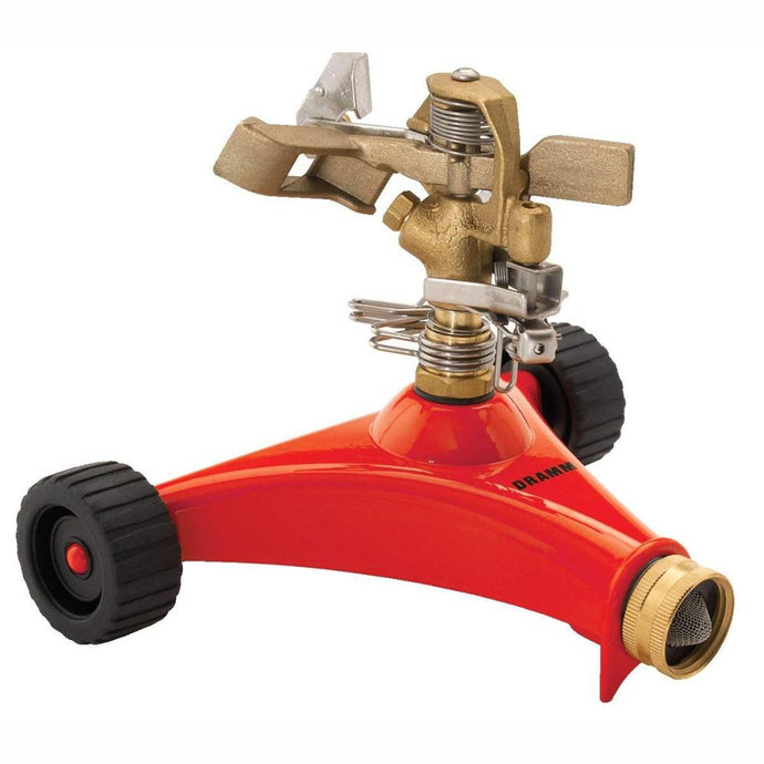 DRAMM | ColourStorm Wheeled Impulse Garden Sprinkler - Red