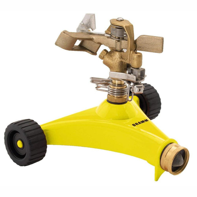 DRAMM | ColourStorm Wheeled Impulse Garden Sprinkler - Yellow