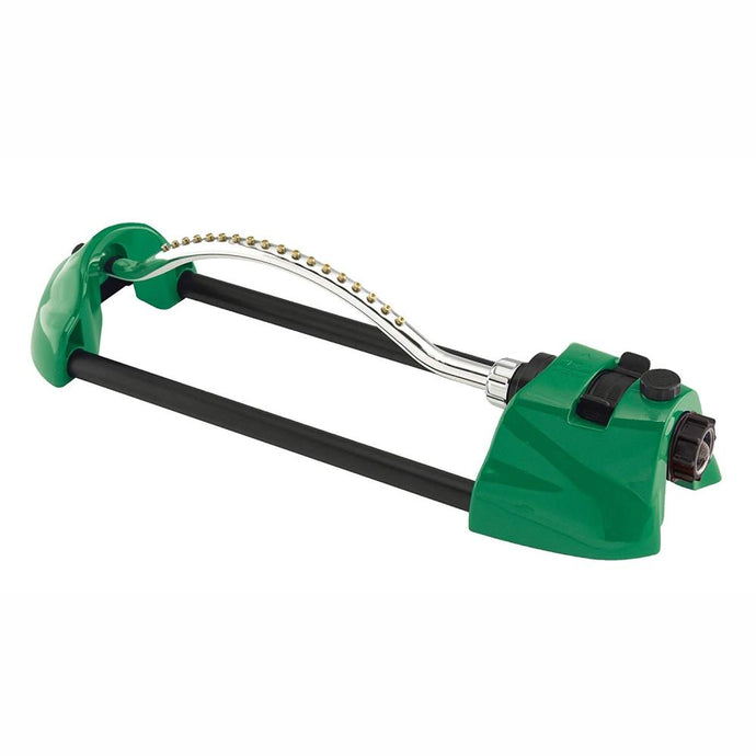 DRAMM | ColourStorm Oscillating Garden Sprinkler - Green