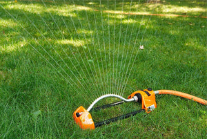 DRAMM | ColourStorm Oscillating Garden Sprinkler - Red