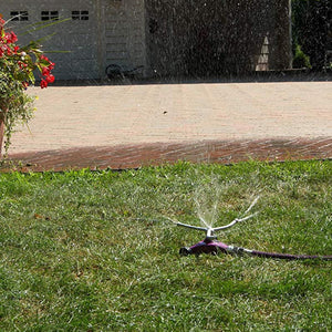 DRAMM | ColourStorm Whirling 3 arm Garden Sprinkler - Yellow