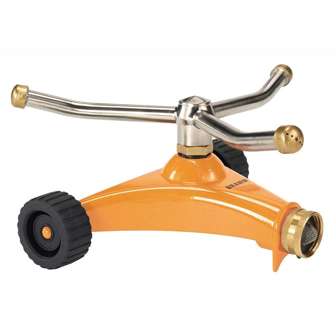 DRAMM | ColourStorm Whirling 3 arm Garden Sprinkler - Orange
