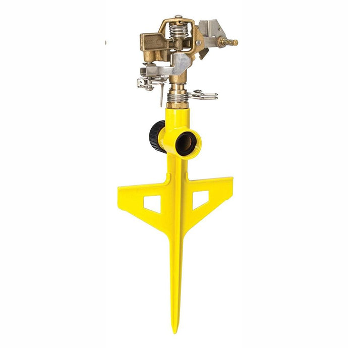 DRAMM | ColourStorm Stake Impulse Garden Sprinkler - Yellow