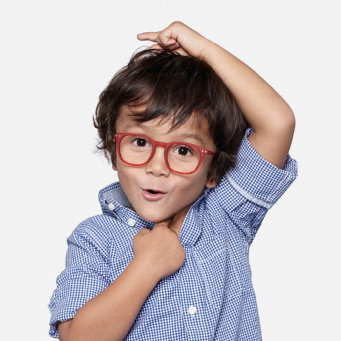 IZIPIZI PARIS | SCREEN Glasses Junior Kids STYLE #E - Red (3-10 YEARS)