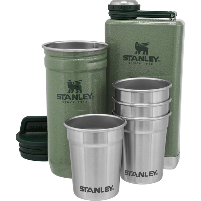 STANLEY ADVENTURE Hip Flask 236ml + Shot Set - Hammertone Green