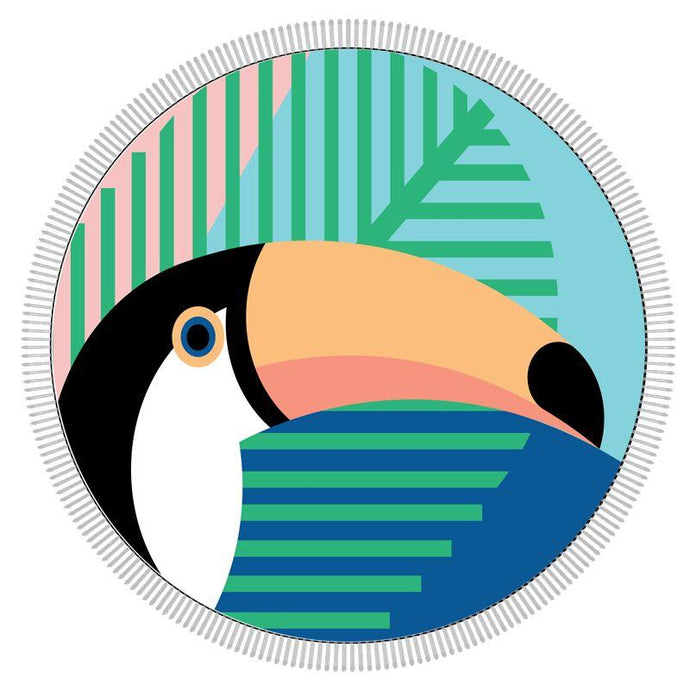 ECD-BIG MOUTH | Round Beach Towel - Toucan