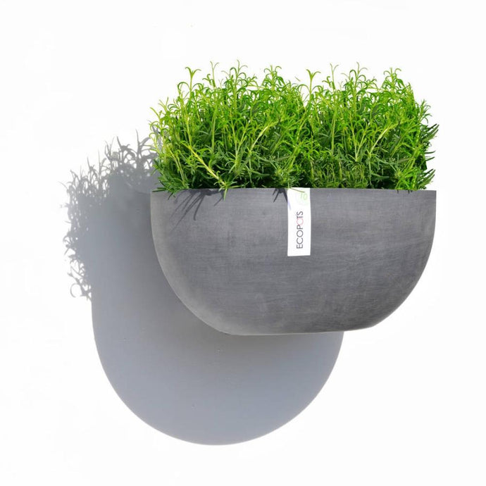 ECOPOTS | Sofia Wall Plant Pot - Blue Grey