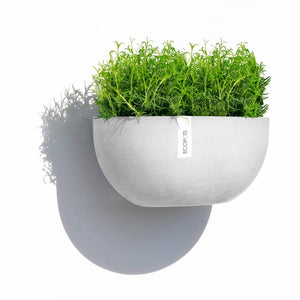 ECOPOTS | Sofia Wall Plant Pot - White Grey