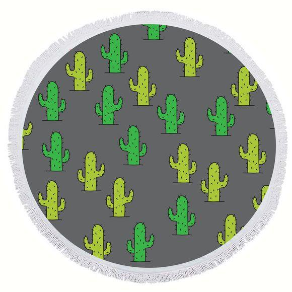 BIG MOUTH -EDC | Round Towel - Cactus
